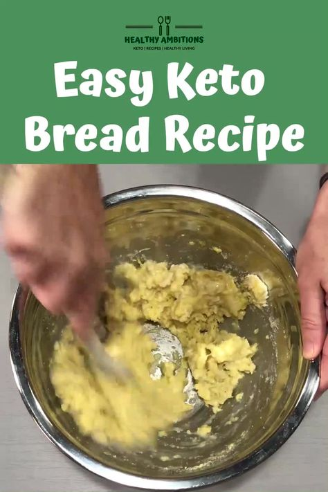 This is such an easy keto bread recipe, you'll find yourself making it every week! Great for sliced sandwich bread, hamburger buns, or hot dog buns. This recipes has your keto bread needs satisfied :)