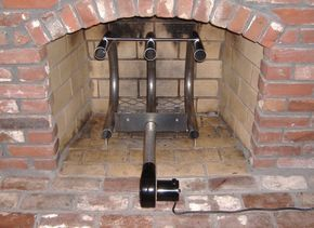 More Heat From The Fireplace I Really Like This Idea Fireplace Heat Fireplace Grate Wood Heater
