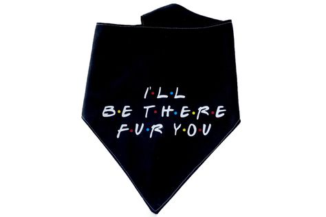 "And your dog will be there for you too with this adorable dog bandana. With black back and Friends inspired text say ""I'll be there FUR you."" This custom dog bandana is handmade with love, so there will be some variation in size and fabric. Funny Dogs, Hilarious Animals, 9gag Funny, Quotes For Shirts, Dog Texts, Dog Accesories, Puppy Supplies, Walmart Funny, Cat Bandana"