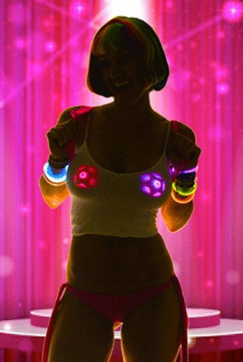LED Pasties _ Rave Wear Costumes _ Stripper Clothes by SasswearShop Light Up Costumes, Led Costume, Burning Man Outfits, Pink Stars, Gold Stars, Marca Personal, Neon Glow, Star Wars, Up Girl