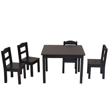 Surprising Ktaxon Kids Table And Chairs Set 4 Chairs And 1 Activity Machost Co Dining Chair Design Ideas Machostcouk