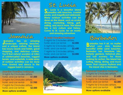 travel brochure layout - Google Search JS Rest Stop Pinterest - travel brochure