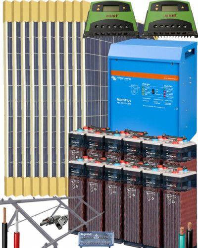 Kit Solar Aislada Kits Solares Aislada Fotovoltaicos Kit Solar Bateria Solar Paneles Solares