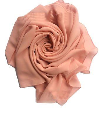 New Chiffon Elegant High Quality Hijab Scarf  Sarong Shawl Wrap Plain Maxi