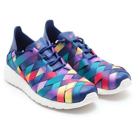 Nike Wmns Roshe Exécuter Chaussure Multicolore Tissé