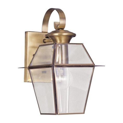 Livex Lighting Westover 12.5 in H Antique Brass Medium Base