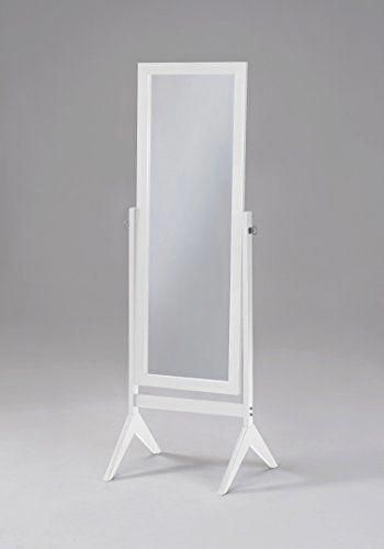 White Finish Wooden Cheval Bedroom Free Standing Floor Mirror Cheval White By Ehomeproducts Homedecor Decor G In 2020 Wooden Bedroom Floor Mirror Mirrors For Sale
