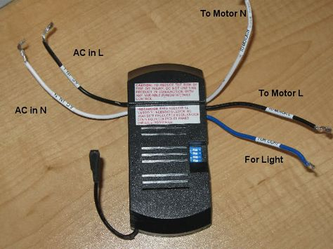 Hunter Fan W Remote Wiring Diagram Remote Control Ceiling Fan ...