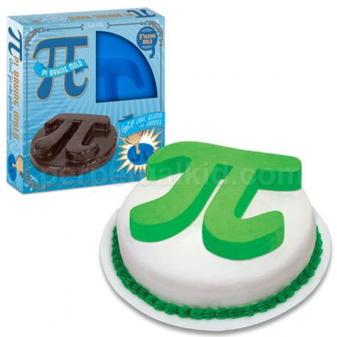 Mathematics and baking, finally together? Calling all baking geeks! Our Pi Cake Pan will let you make a cake, gelatin or even an ice mold!     Attention fellow DRSA staff members. If you are looking for a Christmas gift for me, you have found it in this cake pan. Sincerely SK