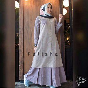 Baju Gamis Remaja Felisha Maxi Model Pakaian Model Pakaian Hijab Model Pakaian Muslim