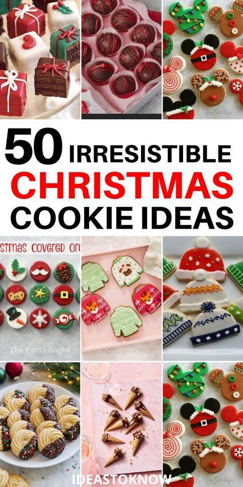 Reindeer Cookies, Christmas Tree Cookies, Christmas Cookie Exchange, Christmas Foods, Christmas Sweets, Christmas Cooking, Holiday Cookies, Christmas Candy, Holiday Treats