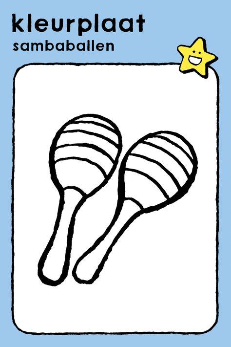 sambaballen met afbeeldingen  kleurplaten tekenen
