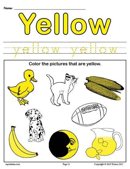 Color Yellow Worksheet Preschool Colors Color Lesson Plans Lesson Plans For Toddlers