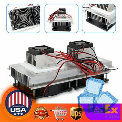 12v Thermoelectric Peltier Cooler 2 Chip Semiconductor Refrigeration Air Cooling In 2020 Semiconductor Cool Stuff Cooling Fan