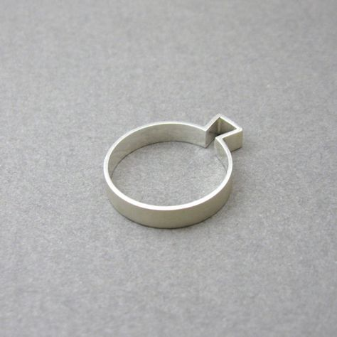 Moderne zilveren ring, minimalistische design ring by MissSilver