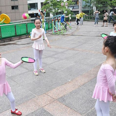 Children S Sticky Target Racket Throwing Suction Cup Ball Ad