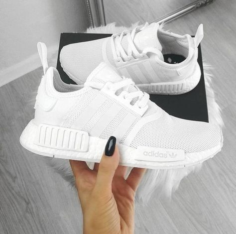 Top 10 Adidas NMD Sneakers The reign of Adidas NMDs is never ending as we always witness the release of a new NMD day after [. Nmd Sneakers, Best Sneakers, Sneakers Fashion, Adidas Sneakers, Adidas Shoes Women, White Addidas Shoes, Adidas Fashion, White Tennis Shoes, Adidas Nmd Outfit