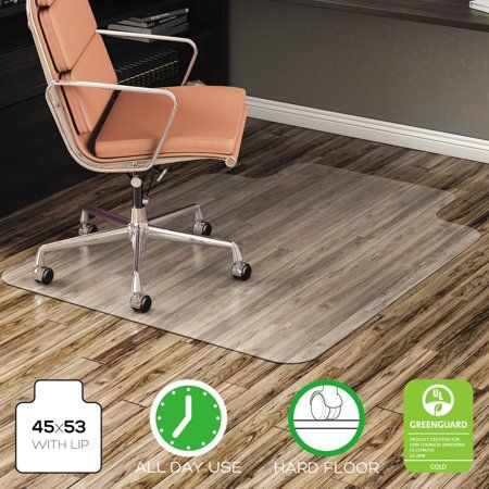 Deflecto Economat 45 X 53 Chair Mat For Hard Floor Rectangular With Lip Walmart Com Hard Floor Chair Mats Used Chairs