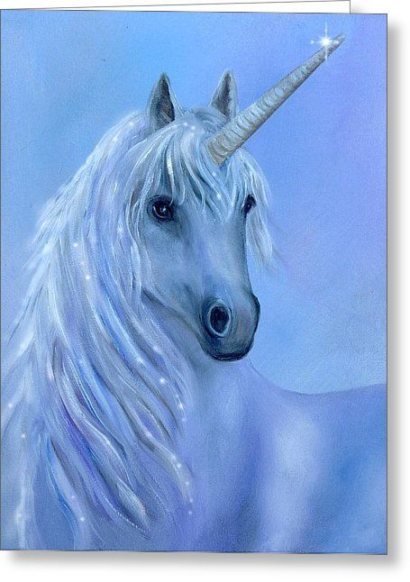 Healing Unicorn Greeting Card by Sundara Fawn
