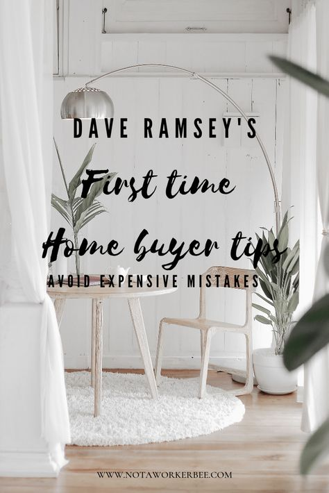 First Time home buyer tips as provided by Dame Ramsey to avoid costly mistakes. Step by step guide to home buying that will help you avoid costly mistakes. Home Buying Checklist, Home Buying Tips, Home Selling Tips, Home Buying Process, Buying Your First Home, First Time Home Buyers, New Home Buyer, Real Estate Tips, Dave Ramsey