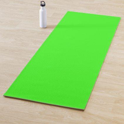 Color Neon Green Yoga Mat Yoga Mat Neon Green Green Accents