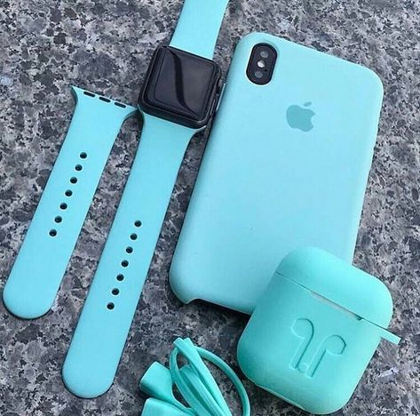 Blue iPhone XS & AirPods