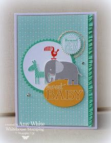White House Stamping: Sweet Zoo Babies...