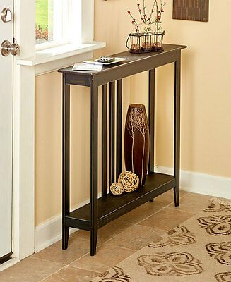Slim Space Saver Accent Table Wooden Narrow Hallway Entry Sofa Storage 4 Colors Accent Table Entryway Decor Small Room Design