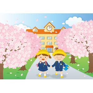 イラスト 入学 式