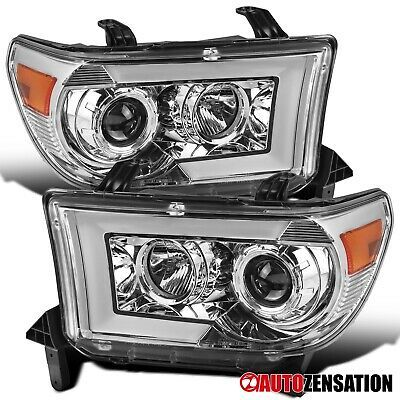 Ad Ebay Link For 2007 2013 Tundra Sequential Led Drl Signal Bar Clear Projector Headlights Projector Headlights 2013 Tundra Ebay