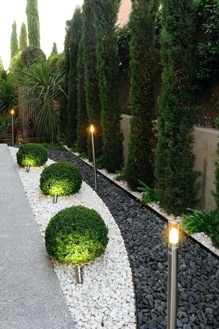 Front Yard Ideas With White Rocks Rock Garden Landscaping