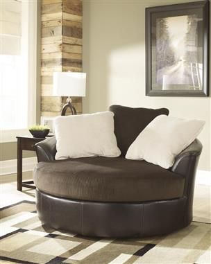Victory Contemporary Chocolate Pu Faux Leather Living Room Set Round Swivel Chair Living Room Leather Furniture