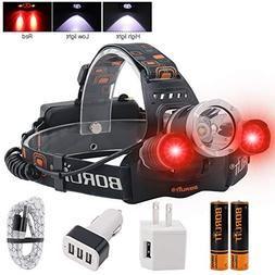 Boruit Led Headlamp Rechargeable Headlamp Led Headlamp Usb Rechargeable