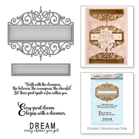 Spellbinders Amazing Paper Grace Vintage Elegance Becca Feeken Beautiful Dreamer Stamp and Die Set