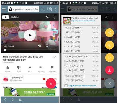 Cara download video youtube di android terbaru, cuman sekali klik.