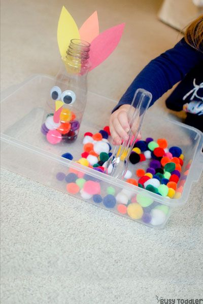 simple thanksgiving games for toddler - feed turkey