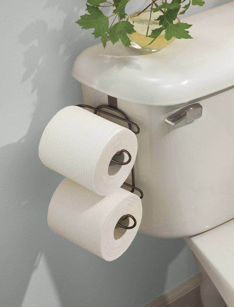 Toilet Paper Roll Holder Bathroom Storage Tissue Rack Over The Tank