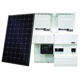 Off Grid Solar Power Kit With 7920 Watts Of Panels And 8800 Watt 48vdc 120 240vac Inverter Power Panel Solar Power Kits Solar Panel System Solar Energy Panels