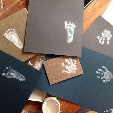 blick7: Hand- und Fußabdrücke Baby [DIY]