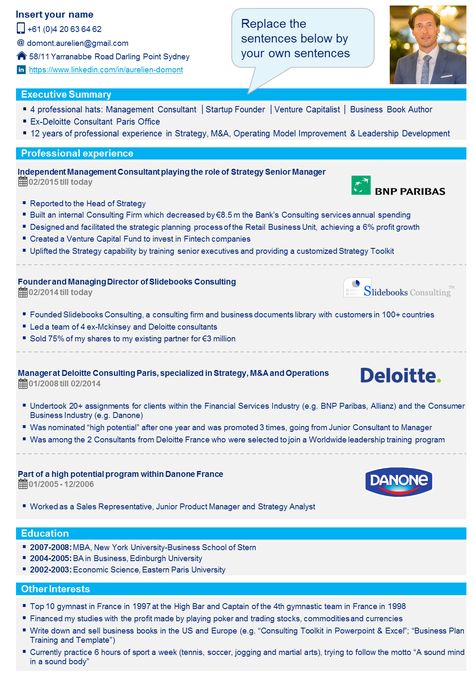 8 best Professional CV Template \ Resume Template in Powerpoint - resume template with picture insert