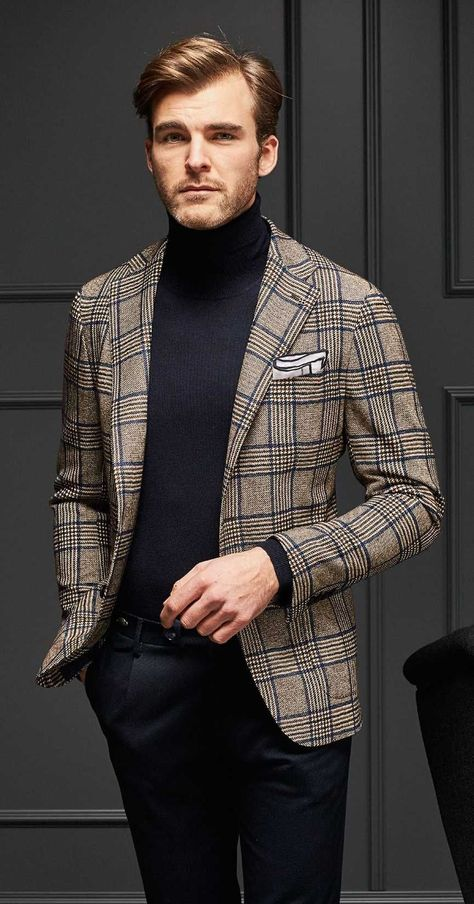 Tagliatore Fall-Winter 2019 Collection Source by malefashiontrends caballero Best Mens Fashion, Mens Fashion Suits, Men's Fashion, Fashion Trends, Mens Turtleneck, Turtleneck Outfit, Mens Roll Neck Sweater, Abercrombie Men, La Mode Masculine