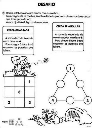 30 Desafios Matematicos E De Raciocinio Logico Para Imprimir Online Cursos Gratuitos Desafios De Matematica Raciocinio Logico Raciocinio