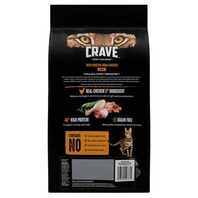 Crave Grain Free Dry Cat Food With Protein From Chicken 4lbs Dry Cat Food Food Grain Free