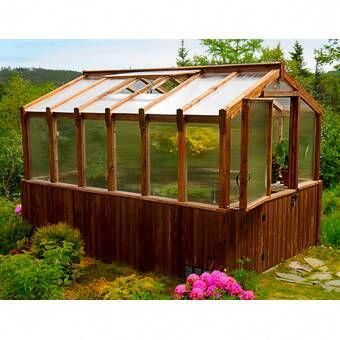 Colonial Gable 10 Ft W X 14 Ft D Greenhouse Backyard Greenhouse Cedar Greenhouse Best Greenhouse