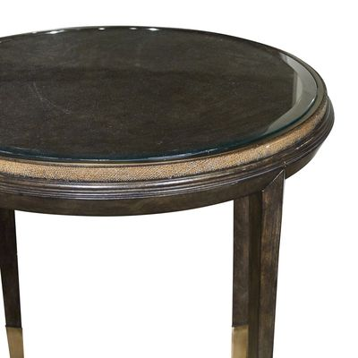 Palms Round End Table By Marge Carson Furnitureland South The