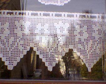 Una ricca selezione di tende per il bagno, le proposte più belle per decorare e impreziosire il luogo dedicato all'igiene e al benessere della persona. Pdf Pattern Crochet Curtain Crochet Diagram Etsy Tende All Uncinetto Schema Uncinetto Uncinetto