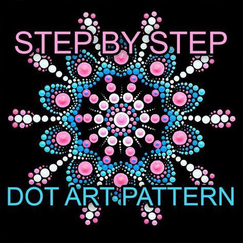 Dot Art Pattern Canvas 12 - Downloadable PDF - Mandala Dotting - Dotting Art Painting - Printable Pattern