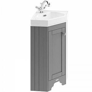 Hudson Reed Old London Floor Standing Corner Vanity Unit With Basin 595mm Wide 595mm Basin Corner Floor H Basin Vanity Unit Corner Vanity Unit Vanity Units