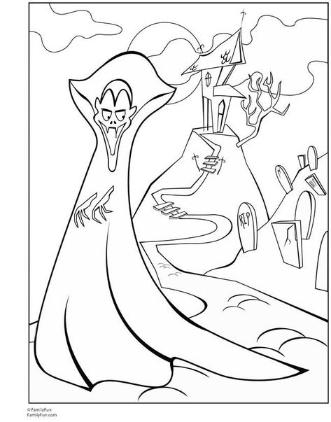 free coloring pages for adults vampire 02 650x828