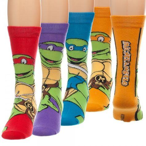 The Joy of Socks - Teenage Mutant Ninja Turtles 4 Pair Pack (Unisex), $32.00 (http://www.joyofsocks.com/teenage-mutant-ninja-turtles-4-pair-pack-unisex/)